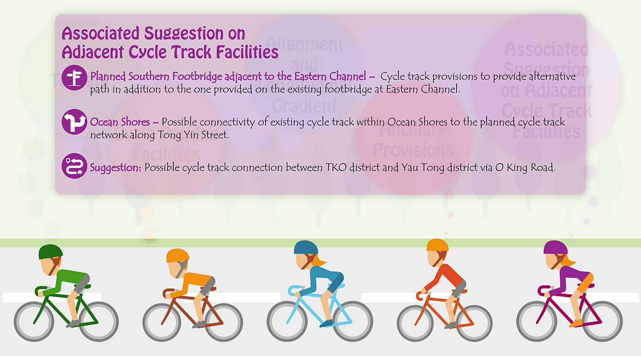 Associated Suggestions on Cycle Track Facilities at Adjacent Areas